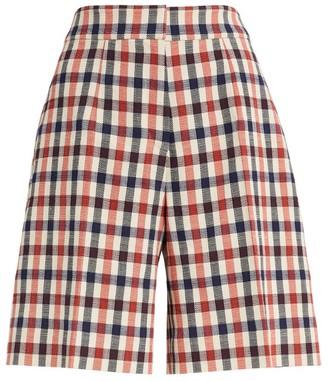Victoria Victoria Beckham Check Tailored Shorts