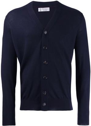 Brunello Cucinelli Button Fine Knit Cardigan