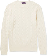 Ralph Lauren Purple Label - Cable-knit Cashmere Sweater