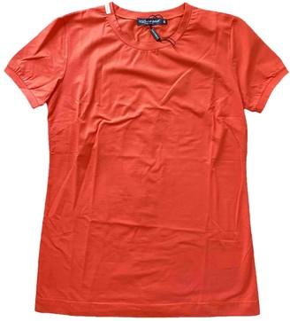Dolce & Gabbana Orange Cotton Tops