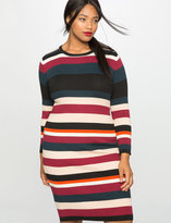 ELOQUII Plus Size Rib Knit Sweater Dress