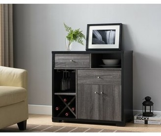 Wrought StudioTM Angelica Dual-Tone Wooden Bar Cabinet Wrought Studio