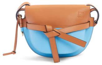 Loewe Small Gate Colorblock Calfskin Crossbody Bag