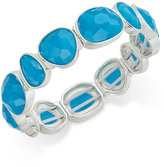 Charter Club Silver-Tone Blue Stone Stretch Bracelet, Created for Macy's