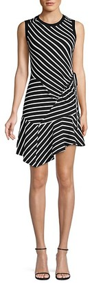 Parker Calvin Striped Patchwork-A-Line Dress