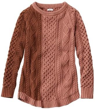 L.L. Bean Women's Signature Cotton Fisherman Tunic Sweater, Colorblock