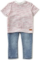 7 For All Mankind Striped Short-Sleeve Tee & Jeans Set