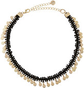 Lydell NYC Fabric Choker w/ Golden Disc Drops