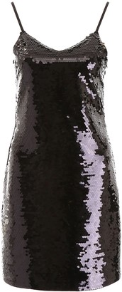 MICHAEL Michael Kors SEQUINS MINI DRESS XS Black