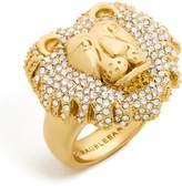 BaubleBar Crystal Lion Head Ring