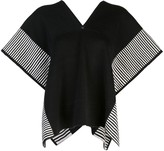 Voz Stripe Edge knit poncho