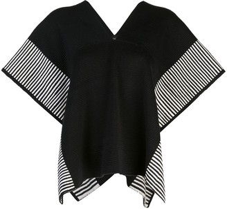 Voz Stripe Edge knit poncho