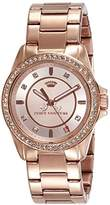 Juicy Couture Stella Women's Quartz Watch with Gold Dial Analogue Display and Gold Rose Gold Bracelet 1901077