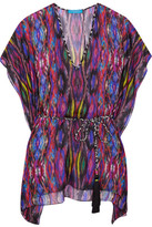 Matthew Williamson Sweetie Ragadang Printed Silk-chiffon Coverup - Fuchsia