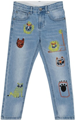 Stella McCartney Kids Embroidered jeans