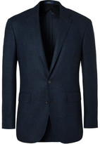 Polo Ralph Lauren Blue Slim-fit Houndstooth Wool Blazer - Blue
