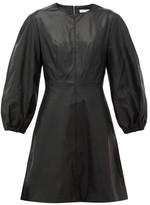 Tibi Panelled Faux-leather Mini Dress - Womens - Black
