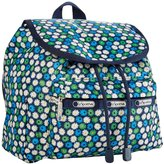 Le Sport Sac Travel Daisy Small Edie Backpack (Toddler/Kids) - Blue/Green - One Size
