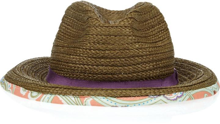 Etro Woven cotton-blend fedora