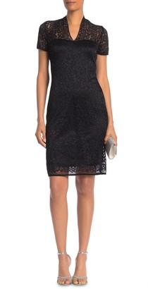 Onyx Nite Floral Lace Midi Dress (Regular & Plus Size)
