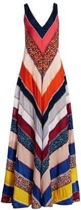Altuzarra Multi-Ellsworth Striped Silk Maxi Dress