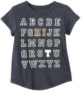 "Toddler Girl Jumping Beans® Alphabet ""HI"" Foiled Graphic Tee"