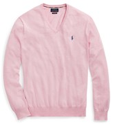 Ralph Lauren Slim Fit Cotton V-Neck Jumper