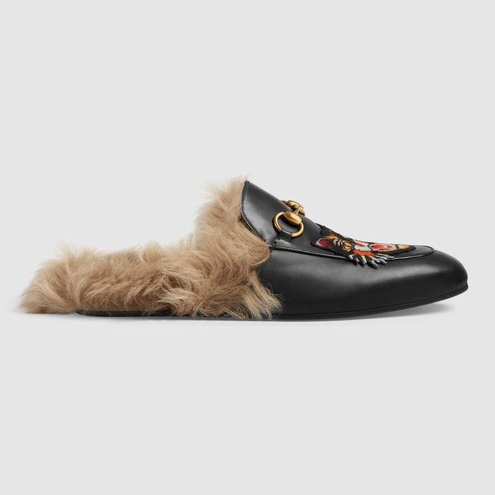 Gucci Princetown slipper with Angry Cat appliqué