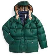 Burberry Boy's Petter Hooded Down Puffer Jacket