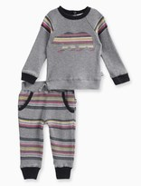 Splendid Baby Boy Long Sleeve Raglan with Striped Pant Set