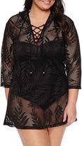 Porto Cruz Crochet Swimsuit Cover-Up Dress-Plus