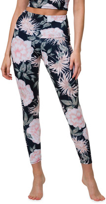 Onzie High-Waist Floral-Print Midi Leggings