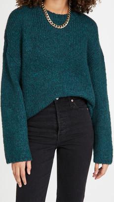 3.1 Phillip Lim Long Sleeve Alpaca Wool Crew Neck Sweater