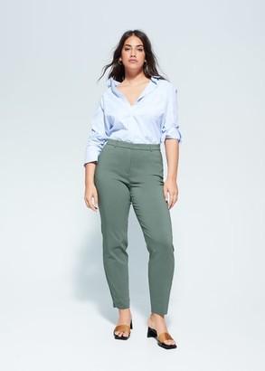 MANGO Violeta BY Suit slim-fit pants mint green - 10 - Plus sizes