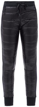 Holden Hybrid-down Quilted-shell And Jersey Leggings - Black