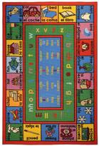 Rugnur Bambino Kids Fun Time Educational English Spanish Numbers and Words Area Rug Rug