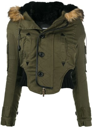 DSQUARED2 Cropped Parka Coat