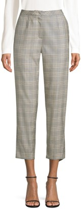 Escada Talaranto Cropped Plaid Pants