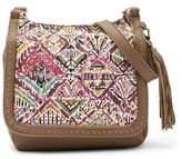 Sakroots Artist Circle Flap Leather Crossbody Bag