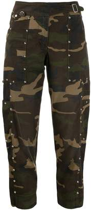 Ermanno Scervino cropped camouflage trousers