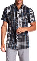 Burnside Short Sleeve Plaid Print Regular Fit Woven Shirt