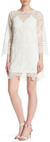 Lumier 3/4 Length Sleeve Lace Dress