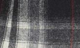Smythe Leather Trim Plaid Wool Blazer