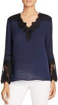 Kobi Halperin Carolina Lace Trim Silk Blouse - 100% Bloomingdale's Exclusive