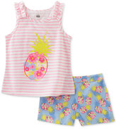 Kids Headquarters 2-Pc. Pineapple Tank & Shorts Set, Baby Girls (0-24 months)