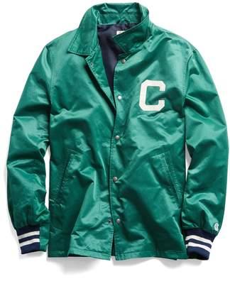 Todd Snyder + Champion Champion Satin Coach's Jacket in Green