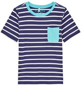 Joules Blue and Cream Stripe Pocket Tee