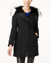 Laundry by Shelli Segal Faux-Fur-Trim Hooded Parka