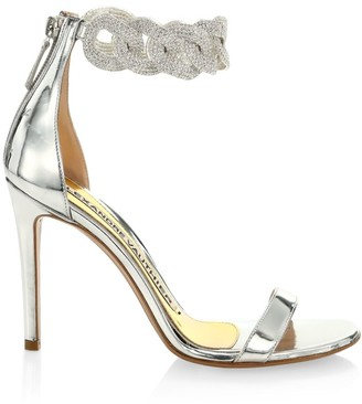 Alexandre Vauthier Elsa Crystal-Embellished Leather Sandals