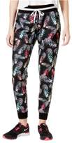 Jessica Simpson Womens Pineapple Party Athletic Jogger Pants black S/27